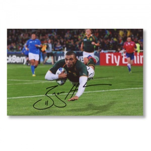 Bryan Habana Signed Photograph