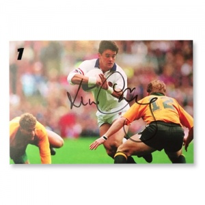 Will Carling Signed Postcards