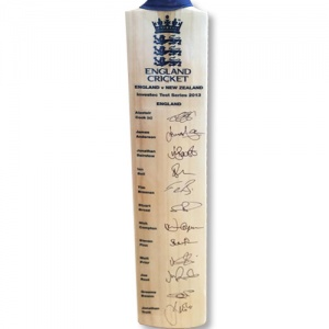 England Signed Cricket Bat