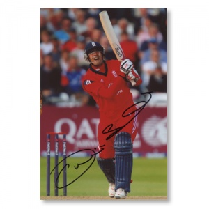 Owais Shah Signed Photograph
