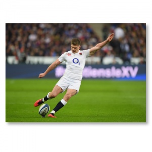 Signed Owen Farrell Grand Slam 2016 Photograph