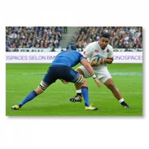 Signed Mako Vunipola Grand Slam 2016 Photograph