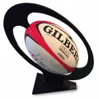 Rugby Ball Presentation Stand.