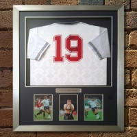 Paul Gascoigne Signed England 1990 World Cup Shirt