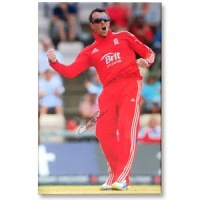 Signed Graeme Swann Canvas