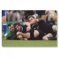 Sam Whitelock All Blacks Signed Photograph