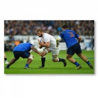 Signed Chris Robshaw Grand Slam 2016 Photograph